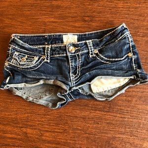 Shortie jean shorts